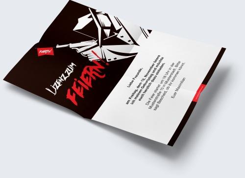 kostenlose geburtstagskarte vorlage agentenparty online. Black Bedroom Furniture Sets. Home Design Ideas