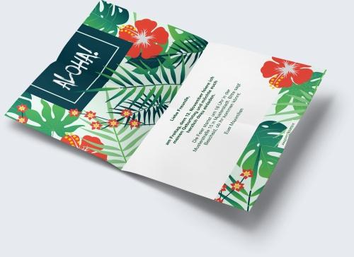 Kostenlose Geburtstagskarte Vorlage Hawaii online erstellen