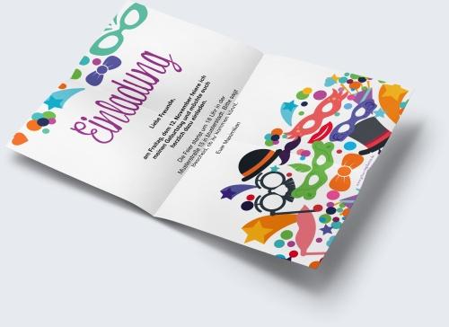 Kostenlose Geburtstagskarte Vorlage Karnevalsparty online erstellen