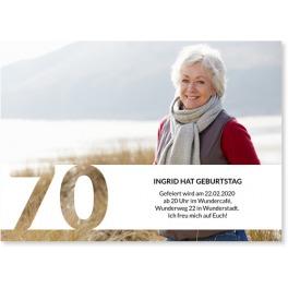 Einladungen zum 70. Geburtstag
