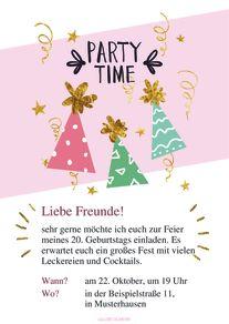 Kostenlose Geburtstagskarte Vorlage Pyjama Party Online Erstellen