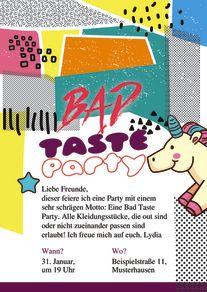 Großartig Bad Taste Party