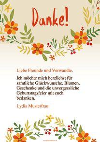 Danksagungskarten Für Glückwünsche Und Geschenke