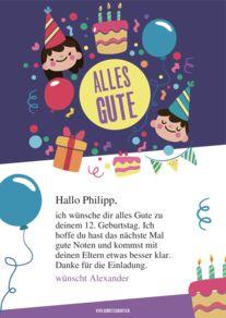 Geburtstag s karte schreiben