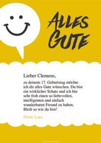 Kostenlose Geburtstagskarte Vorlage Smiley Online Erstellen