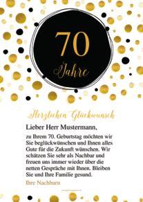 Geburtstagskarte Schreiben Zum 70 Geburtstag Webwinkelvanmeurs