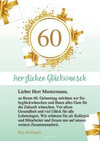 Kostenlose Geburtstagskarte Vorlage 60 Geburtstag Online Erstellen