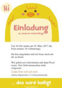 Text lustig geburtstag kinder einladung Einladung Kindergeburtstag: